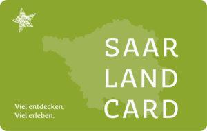 Eine grüne Saarland Card ist zu sehen