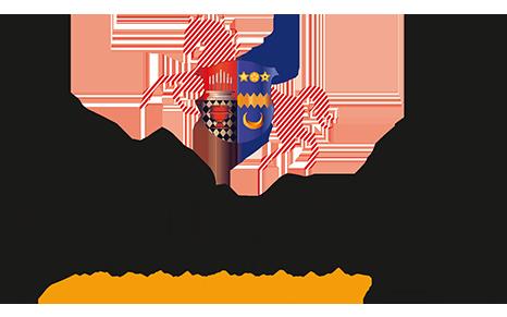 Es sind das Emblem und der Schriftzug des Linslerhofs abgebildet